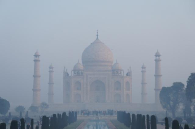 Taj through the mist